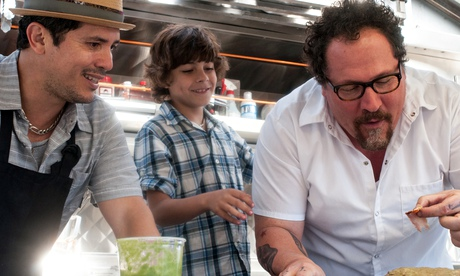 John Leguizamo, Emjay Anthony and Jon Favreau in Chef